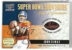 JOHN ELWAY 2000 PLAYOFF MOMENTUM SUPER BOWL SOUVENIRS AUTO BALL CARD #4 25!