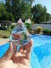 Tiffany  Co Crystal Diamond Shape Paperweight Signed