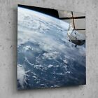 Wall Art Glass Print Canvas Picture Earth Space Satellite Stars p24978