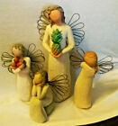 Lot of 4 Collectible Willow Tree Figurines Angels
