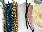 100 + RETAIL NWT GLASS BEAD STRANDS MIXED LOT OVER 760 BEADS 4 MM TO 11 MM