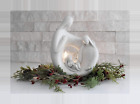 Christmas Nativity Set Statue Figurine with LED Tealight Candle Holder for Uniqu