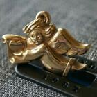 Retired  RARE FIND James Avery ANGEL WITH HEART SCROLL 14k Gold Charm Pendant