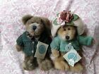 Lot Of 2 Boyds Bears Plush Jointed Retired Collection W/Tags Mr. & Mrs. Trumbull