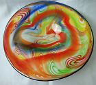Murano Glass Bowl Dish Large Centerpiece Rainbow Wave Murano Large Bowl 13