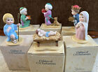 Vintage Children of C H Twelvetrees Porcelain Nativity Scene 1987 6 Pieces