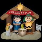 Christmas Holiday Inflatables Airblown Peanuts Nativity Scene LED Light Up Dcor