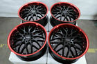 17 Wheels Honda Accord Civic MX 5 Miata Impreza Camry Corolla Black Red Rims
