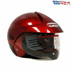 MMG Motorcycle Scooter Open Face Helmet DOT Street Legal M Shiny Burgundy