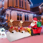 7ft Christmas Inflatable Santa Claus on Sleigh w Two Flying ReindeerGifts Yard