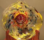 Vintage Austin Art Glass Wall Hanging Bowl Signed Aaron Gross 2004