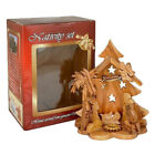 Olive Wood Nativity Scene Hand Made Bethlehem Jesus Christmas Holy Land Ornament
