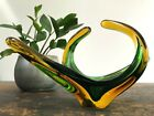 Vintage FREEFORM Art GLASS Murano STRETCH ARM Mid Century CHALET Sommerso MCM