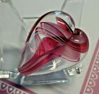 Maslach Art Glass Heart Paperweight Red White Latticino Colored Ribbons