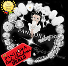 Authentic Pandora Bracelet Silver WHITE with Betty Boop European Charms New
