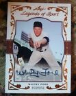 Whitey Ford 2011 Leaf Legends of Sport #6 31 Certified Autograph Yankees Auto