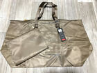 TUMI Voyageur Just In Case X Large Packable Nylon Travel Tote W Pouch Fossil