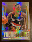 2013-14 SELECT DAMIAN LILLARD YOUNG BLOODS SILVER PRIZM INSERT CARD 2ND YR
