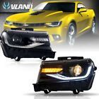 VLAND LED Headlights For Chevy Camaro 2014 2015 LS LT SS Model DRL Projector