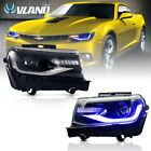 VLAND RGB LED Headlights For Chevy Camaro 2014 2015 LS LT SS Model Assembly