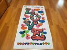 Awesome RARE Vintage Mid Century retro 60s 70s LOVE bright terry towel fabric