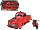 1948 Ford F 1 Pickup Truck Harley Davidson Fire With 1936 El Knucklehead Harley