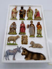 Antique Kauders Nativity Set 13 Pieces Made in Germany 1930s