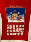 Nativity Advent Calendar and Ornaments Cranston fabric panel