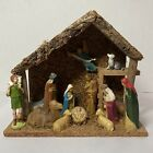 Vintage British Hong Kong Nativity Set w 14 Figures  Creche Injected Plastic