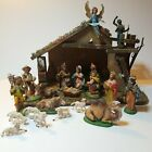 Vintage Made in Italy Nativity Set 21 Pieces Holy Family Animals Wise Men Manger
