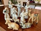 Christian Nativity Figurine Set Of 11 Christ Mary Kings Christmas Decoration