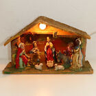 Christmas Nativity Figurine Creche WOOD Vintage ITALY Small 115 USA SELLER