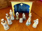 Jim Shore 2008 10 pc Mini Blue Nativity Set Christmas 4011886