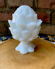 Antique Portieux Vallerysthal White Opaline Glass Jar Dish