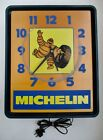 VTG AS IS COLLECTIBLE ADVERTISING MICHELIN MAN TIRES ELECTRIC LIGHTED WALL CLOCK