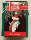 HALLMARK HARK IT'S HERALD #2 SERIES 1990 CHRISTMAS KEEPSAKE ORNAMENTS DRUM