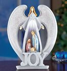 Lighted Christmas Joy Nativity Angel Figurine Statue Winter Holiday Home Decor
