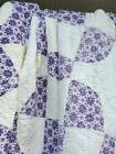 222 GORGEOUS Vintage CIRCLES N CROSSES Quilt Hand Quilted