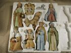 Vintage Homco 5603 and 5552 Christmas Nativity and Animal Set 12 pieces