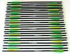 20 Carbon Crossbow Bolts Green Yellow Parabolic Arrows 6912 24 Weight Sorted