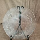 Glass Platter with Angel  Stars Herald Glass Made in Italy 125