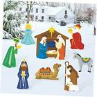 Religious Christmas Yard Signs Nativity Scene Outdoor Lawn Decorations Baby Jesu