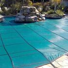 Mesh 16 ft x 32 ft Rectangle Inground Pool Safety Cover Green 12 Yr Gli
