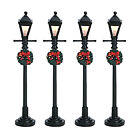 Lemax 64498 GAS LANTERN STREET LAMP Set of 4 Christmas Village Lights S O New I