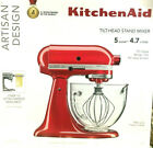 KitchenAid Artisan Design Series Glass Bowl TiltHead Stand Mixer Candy Apple Red