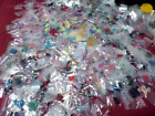 HUGE BEAD LOT of 70 Bags Mix Beads charms gemstone metal findings Glass clearanc