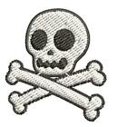 Simple Skull and Crossbones Cartoon Patch Applique Embroidery