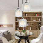 3 Pack Modern Crystal Chandelier Glass Hanging Light Fixture Pendant Light Set
