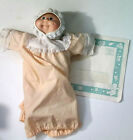 1982 Cabbage Patch Kids Baby Doll Plush with Nightgown Birth Certificate Vintage