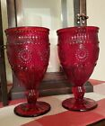 Pioneer Woman Adeline Ruby Red Glass Goblet 12 oz Set of 2 No chips or cracks